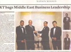 Coverage of Rami receiving the Masterclass CEO of the Year  Award in Khaleesj Times Newspaper, April 19, 2011